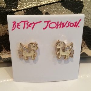 Betsey Johnson Unicorn Earrings
